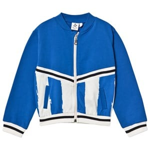 Image of Noe & Zoe Berlin Blue and Stripe Zip Bomber Jacket 12 years (2970786347)