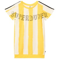 Noe & Zoe Berlin Yellow Striped SuperDuper Dress YELLOW STRIPES XL