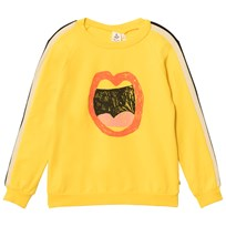 Noe & Zoe Berlin Yellow Mouth Graphic Sweater Yellow