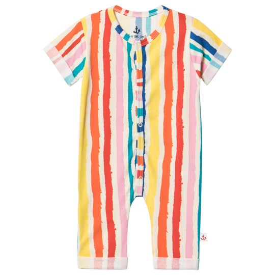 Noe & Zoe Berlin Multi Coloured Striped Footless All In One MULTIKULTI