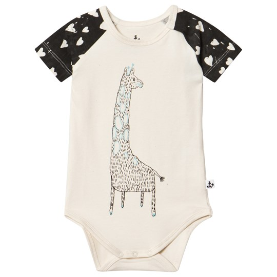 Noe & Zoe Berlin Off White Giraffe Print Body with Heart Print Sleeves Dotty
