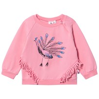 Noe & Zoe Berlin Pink Peacock Print Infant Sweatshirt PINK POOL