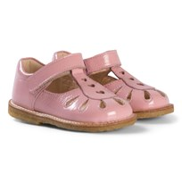 Angulus Pink Heart Detail T Bar Sandals 2336