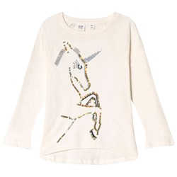 GAP Unicorn Sequence Tee Ivory Frost