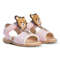 Moschino Kid-Teen Pale Pink Bear Lolly Sandals 9102