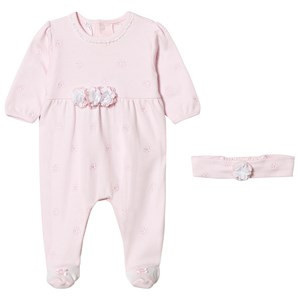 Image of Emile et Rose Mandy Pink Flowers Footed Baby Body 6 months (2970788037)