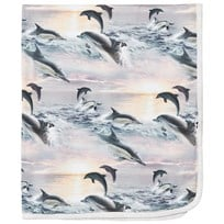 Molo Neala Blanket Dolphin Sunset Dolphin Sunset