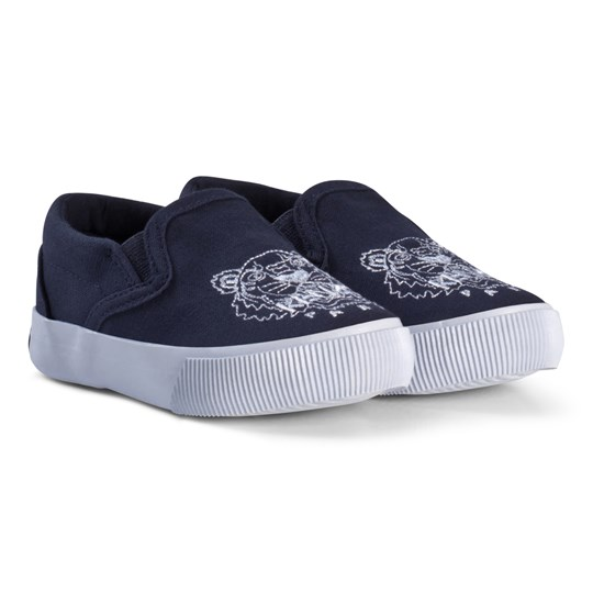 Kenzo Navy and White Tiger Slip Ons 49