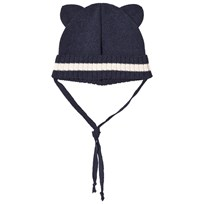 Huttelihut Navy Mini Bear Hat Navy / Off white