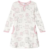 Joha Klänning, Elephant, Long Sleeve Dress, White/Pink Nectar White