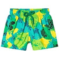 Vilebrequin Green Turtle World Print Swim Shorts 408
