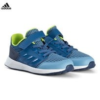adidas Performance Blue RapidaRun Velcro and Elastic Lace Infants Trainers ASH BLUE S18/TRACE ROYAL S18/NOBLE INDIGO S18