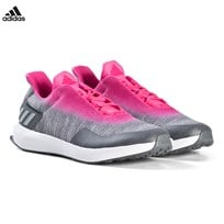 adidas Performance RapidaRun Uncaged Trainers Gray and Pink GREY THREE F17/GREY TWO F17/SHOCK PINK S16