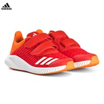 adidas Performance Red and Orange FortaRun Velcro Trainers HI-RES RED S18/FTWR WHITE/HI-RES ORANGE S18