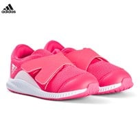 adidas Performance Pink FortaRun Velcro Infants Trainers CHALK BLUE S18/AERO PINK S18/FTWR WHITE