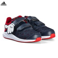 adidas Performance Navy and Red Disney Mickey Mouse Velcro Infants Trainers SCARLET/VIVID RED S13/FTWR WHITE
