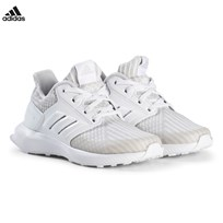 adidas Performance Grey RapidaRun Knit Kids Trainers GREY TWO F17/FTWR WHITE/FTWR WHITE