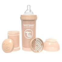 Twistshake Anti-Colic Baby Bottle 260 ml/8 oz Beige Beige