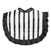 Bjällra of Sweden Bib with Black and White Stripes Stripe Collection