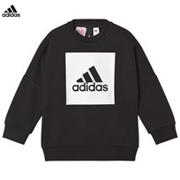 adidas Performance Black Logo Crew Sweater Black