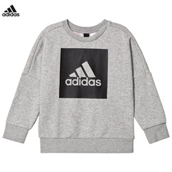 adidas Performance Grey Logo Crew Sweater