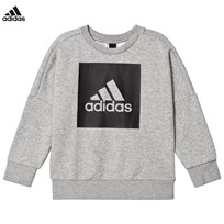 adidas Performance Grey Logo Crew Sweater MEDIUM GREY HEATHER/BLACK