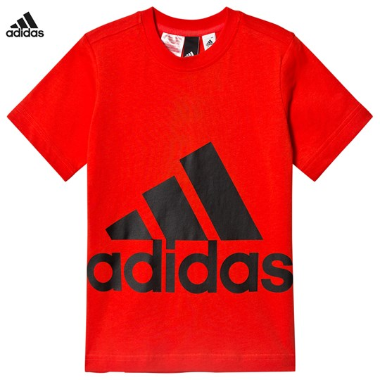 adidas Performance Big Logo T-shirt Röd HI-RES RED S18/BLACK
