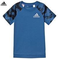 adidas Performance Blue Running Tee TRACE ROYAL S18