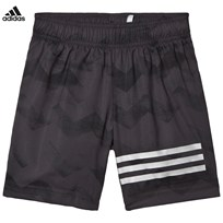 adidas Performance Grey and Black Running Shorts CARBON S18/BLACK