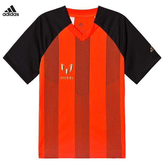 adidas Performance Messi T-shirt Röd/Svart BLACK/SOLAR RED