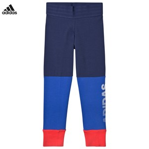Image of adidas Performance Blue and Coral Branded Leggings 13-14 years (2972601593)