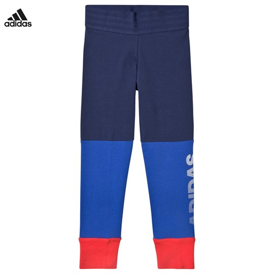 adidas Performance Branded Leggings Blå/Coral NOBLE INDIGO S18/HI-RES BLUE S18/REAL CORAL S18/WH