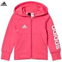 adidas Performance Pink Full Zip Hoodie REAL PINK S18/WHITE