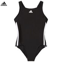 adidas Performance Black Branded Swimsuit Black/White