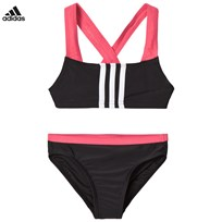 adidas Performance Black and Pink Braned Bikini BLACK/REAL PINK S18