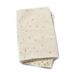 Elodie Moss-Knitted Blanket - Gold Shimmer