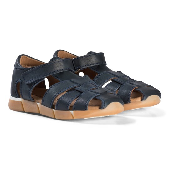 Bisgaard Leather Sandals Navy Blue