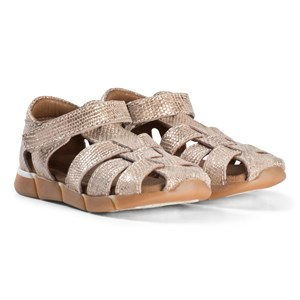 Image of Bisgaard Leather Sandals Gold 30 EU (2974765387)