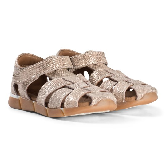 Bisgaard Leather Sandals Gold Gull