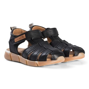 Image of Bisgaard Leather Sandals Black 33 EU (2974765087)