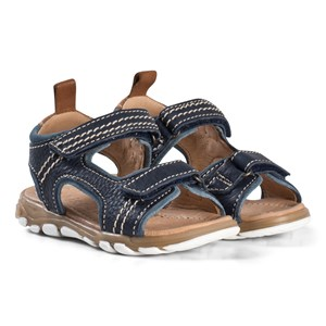 Image of Bisgaard Leather Sandals Navy 25 EU (2974765153)