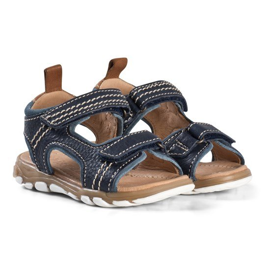 Bisgaard Navy Sandals Blue