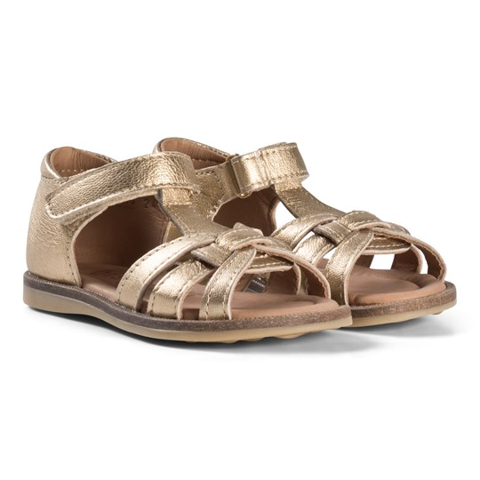 Bisgaard Open Toe Sandals Gold Gold