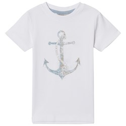 Wheat T-Shirt Anchor Ss White
