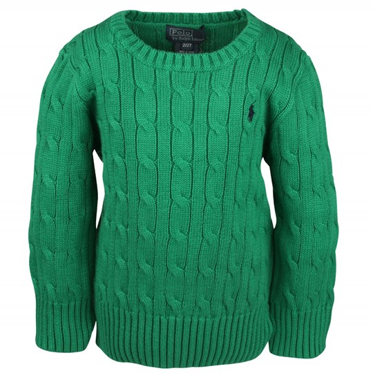 Ralph Lauren LS Classic Cable Polo Green Green