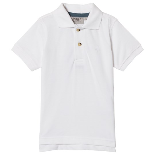 Wheat Short Sleeve Anchor Polo Shirt White White