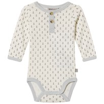 Wheat Anchor Print Body Ivory Ivory
