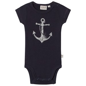 Image of Wheat Anchor Print Body Navy 1m/56cm (2976069915)