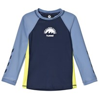 Hummel Sidney Ls Swim Tee Ss18 Multi Colour Boys Multi Colour Boys