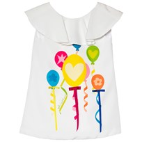Agatha Ruiz de la Prada White Dress With Multicolour Balloons And Streamers Print White